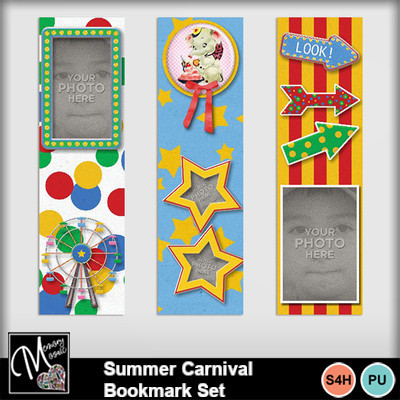 Summer_carnival_bookmark_set