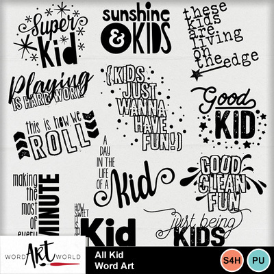 All_kid_word_art