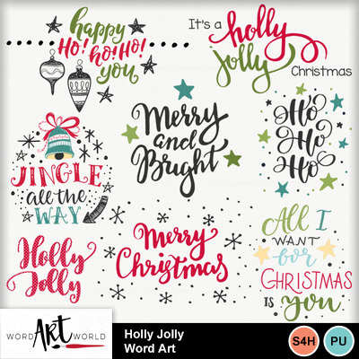Holly_jolly_word_art