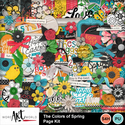 The_colors_of_spring_page_kit