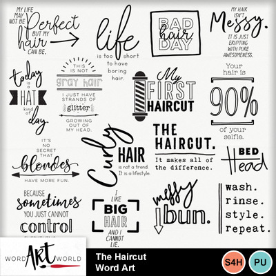 The_haircut_word_art