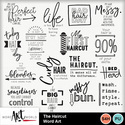 The_haircut_word_art_small