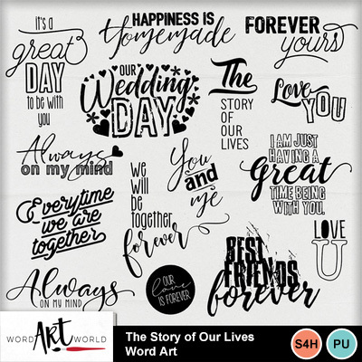 The_story_of_our_lives_word_art