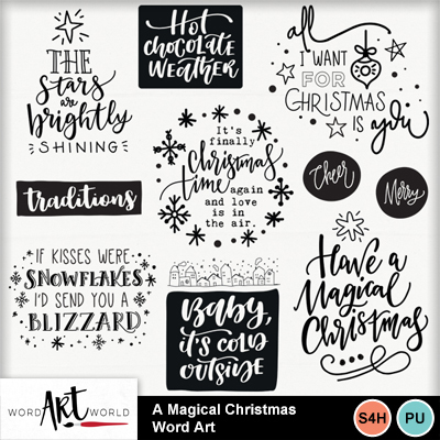A_magical_christmas_word_art