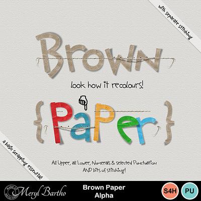 Brownpaperalpha