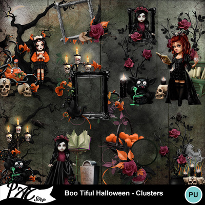 Patsscrap_boo_tiful_halloween_pv_clusters