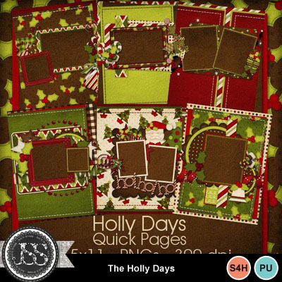 Holly_days_quick_pages_8x11