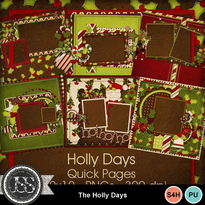 Holly_days_quick_pages_12x12