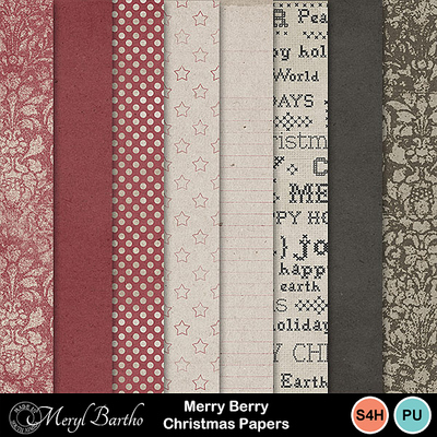 Merryberrychristmas_papers
