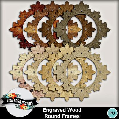 Lisarosadesigns_engravedwood_roundframes