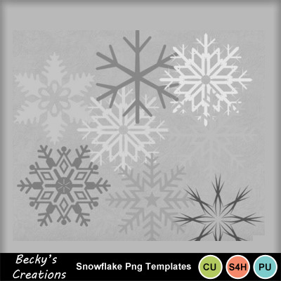 Snowflake_png_templates