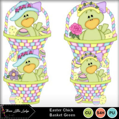 Easter_chick_basket_green