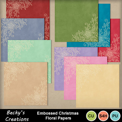 Emb_christmas_floral_papers