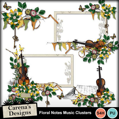 Floral-notes-music-clusters