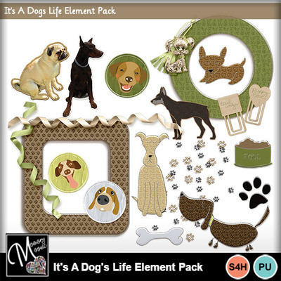 It_s_a_dog_s_life_element_pack