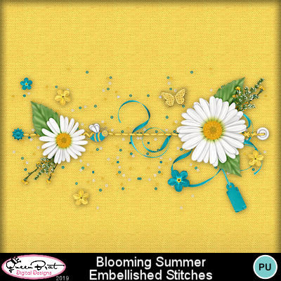 Bloomingsummeembellishedstitches