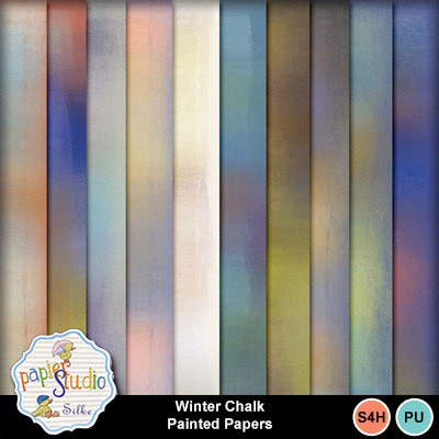 Winter_chalk_painted_papers