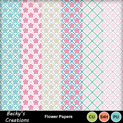 Flower_and_dot_papers
