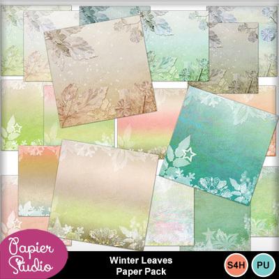 Winter_leavespaper_pack