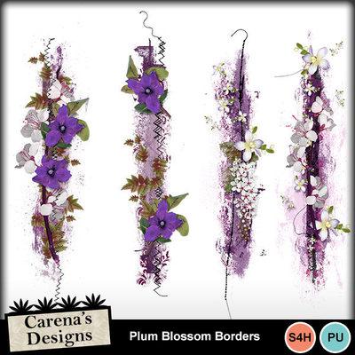 Plum-blossom-borders