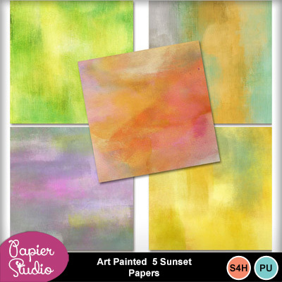 Art_painted_5_sunset_papers