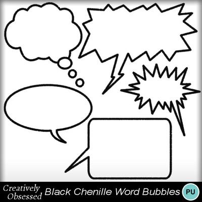 Black_chenille_word_bubbles