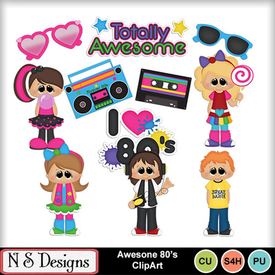 Digital Scrapbooking Kits Awesome 80 S Clipart Nsd Boys Commercial Use Girls Heritage Kid Fun Memories Mymemories