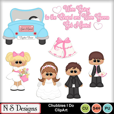 Digital Scrapbooking Kits Chubbies I Do Clipart Nsd Boys Celebrations Girls Love Memories Weddings Mymemories