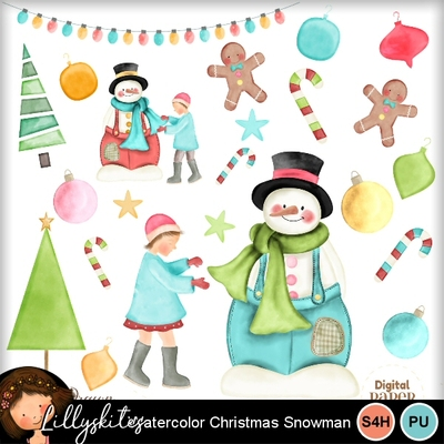 Snowman_and_children