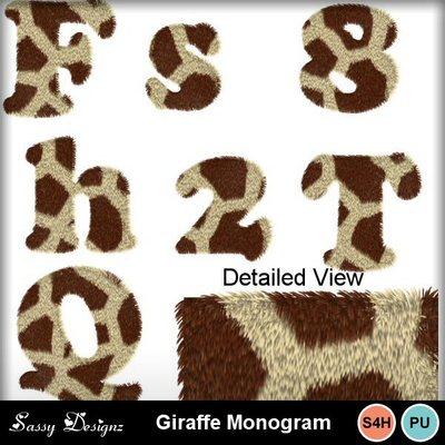 Giraffemonogram