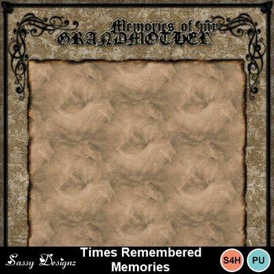Timesrememberedmemories