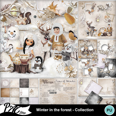 Patsscrap_winter_in_the_forest_pv_collection