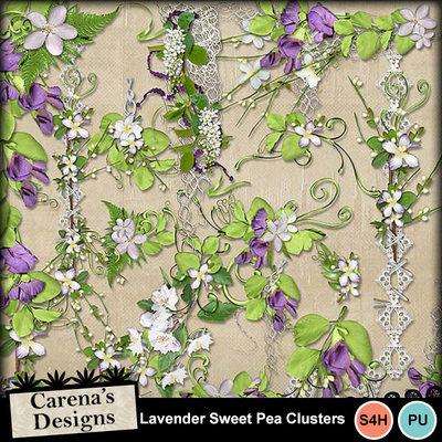 Lavender-sweet-peas-clusters