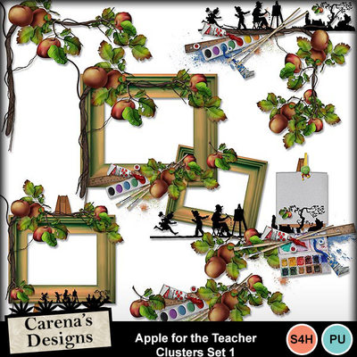 Apple-for-the-teacher-clusters-set-1