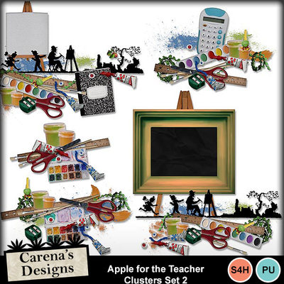 Apple-for-the-teacher-clusters-set-2