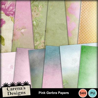 Pink-gerbra-papers