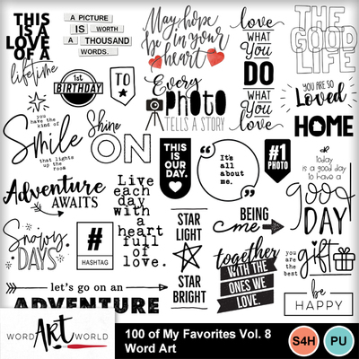 100_of_my_favorites_volume_8_word_art