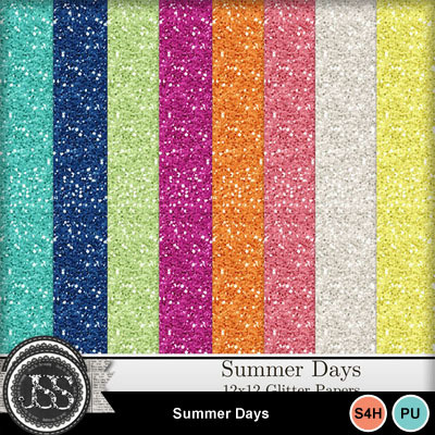 Summer_days_glitter_papers