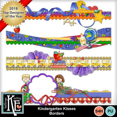 Kindergarten-kisses-borders