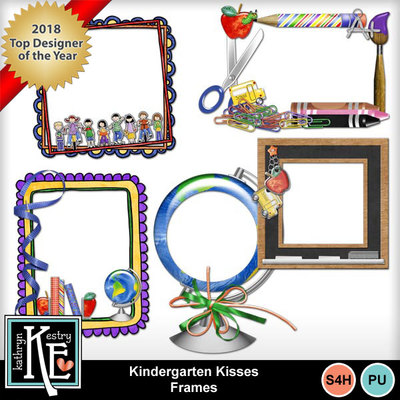 Kindergarten-kisses-frames-