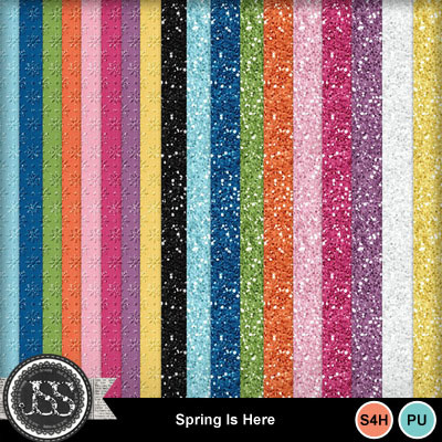 Spring_is_here_glitter_papers