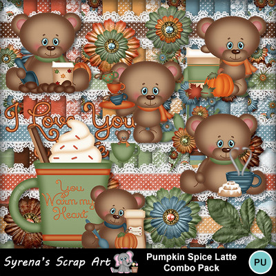 Halloween Thanksgiving Christmas Clipart.Clip Art Pumpkin Spice Latte Combo Pack Syrenae Food