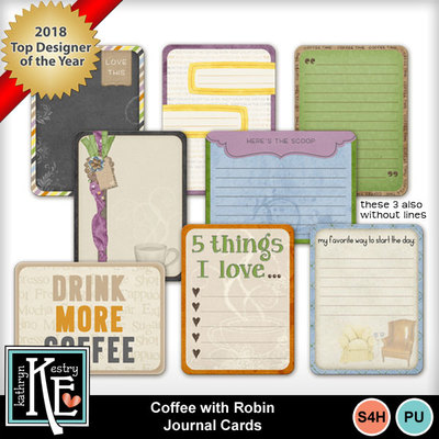Coffeewithrobinjournalcards