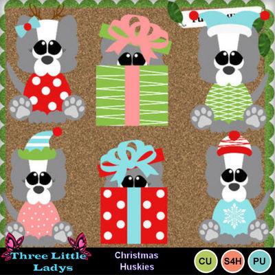 Christmas_huskies-tll