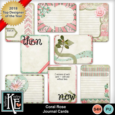 Coralrosejournalcards