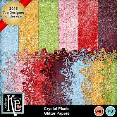 Crystalpixelsglitterpapers