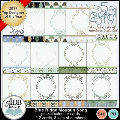 Blueridgemtnsong_calendarcards