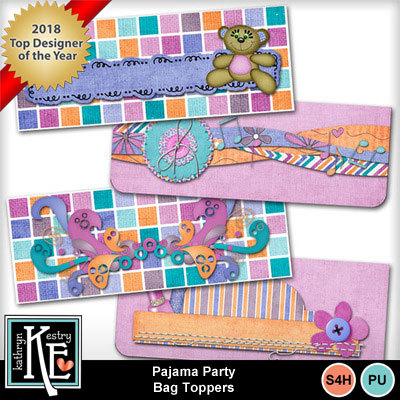 Pajamapartybagtoppers