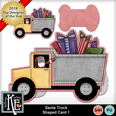 Santa-truck-shaped-card-1