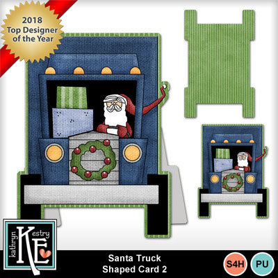 Santa-truck-shaped-card-2